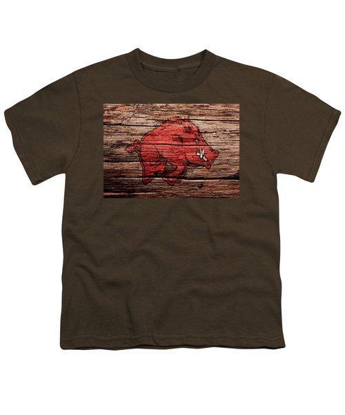 Arkansas Razorbacks Youth T-Shirt by Brian Reaves