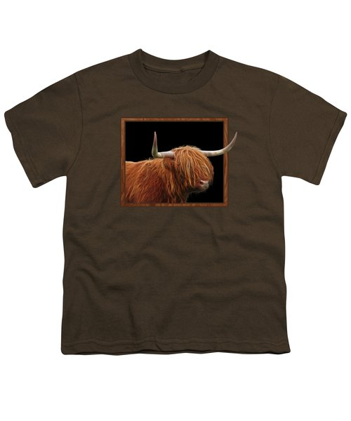 Bad Hair Day - Highland Cow Square Youth T-Shirt by Gill Billington