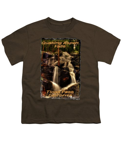 Quaking Aspen Falls Along Tioga Pass  Youth T-Shirt by Roger Passman