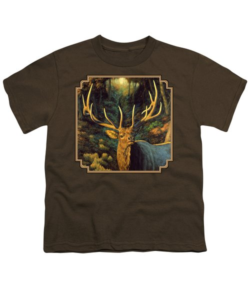 Elk Painting - Autumn Majesty Youth T-Shirt