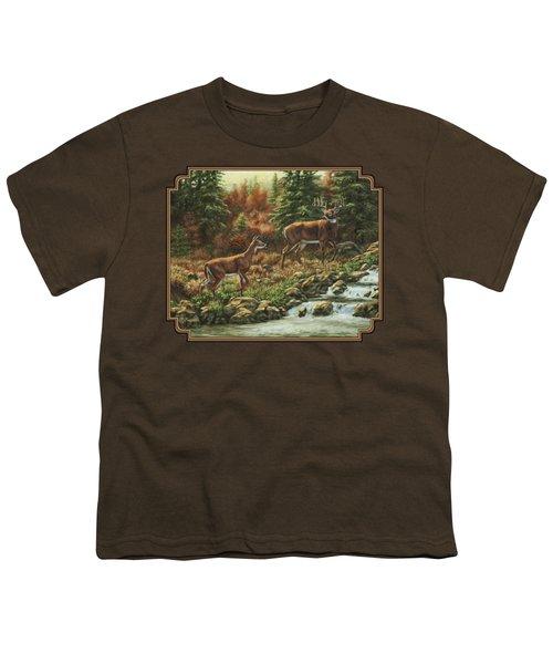 Whitetail Deer - Follow Me Youth T-Shirt
