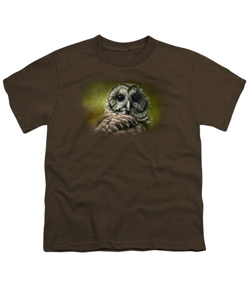 Barred Owl In The Grove Youth T-Shirt by Jai Johnson