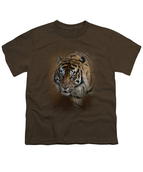 Bengal Stare Youth T-Shirt by Jai Johnson