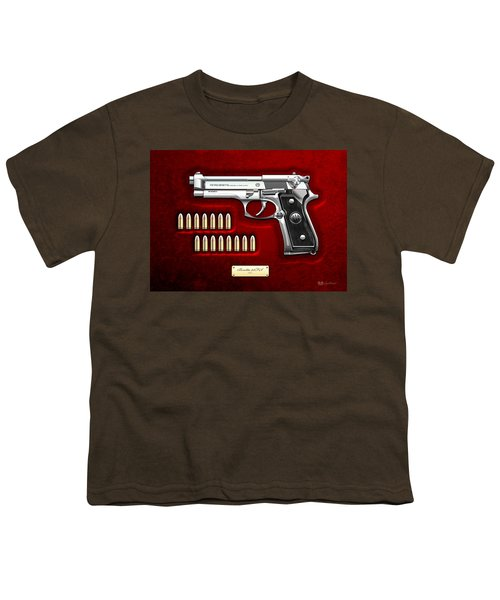 Beretta 92fs Inox Over Red Velvet Youth T-Shirt
