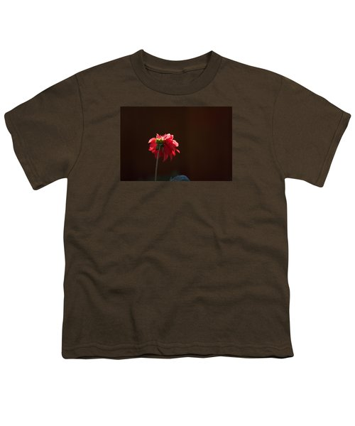 Youth T-Shirt featuring the photograph Black With Rose by Lora Lee Chapman