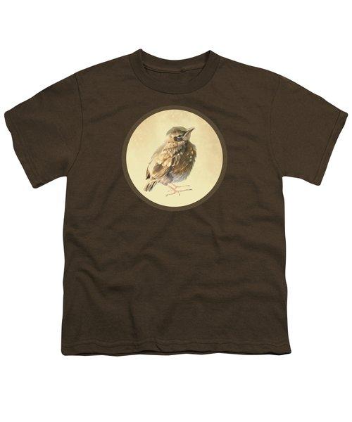 Blackbird Fledgeling Youth T-Shirt by Bamalam  Photography