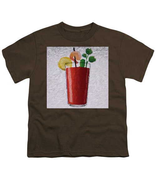 Bloody Mary Emoji Youth T-Shirt by  Judy Bernier
