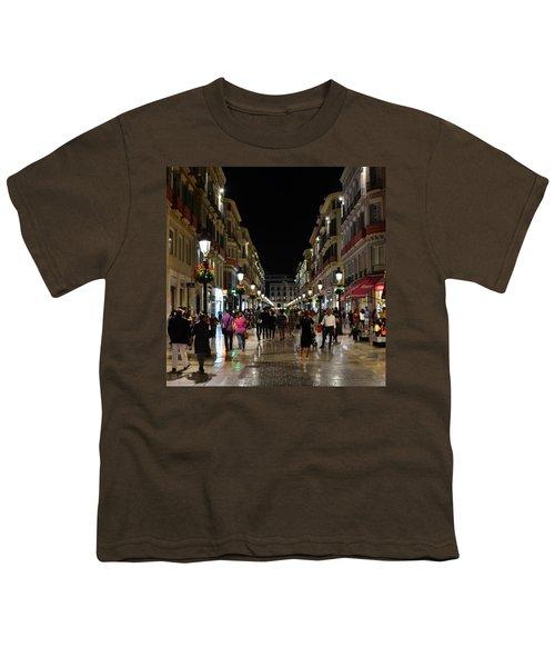 Centro De Malaga By Night - #ig_malaga Youth T-Shirt