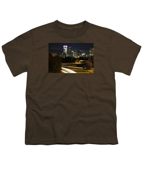 Charlotte's Skyline Youth T-Shirt by Demetrai Johnson