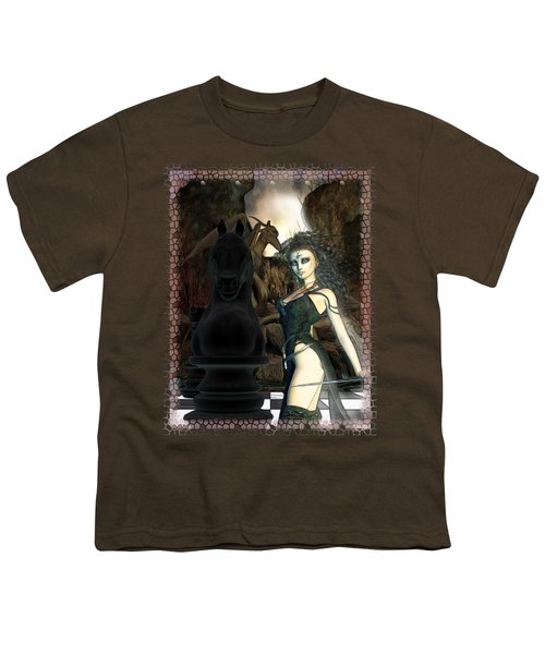 Chess 3d Fantasy Art Youth T-Shirt by Sharon and Renee Lozen