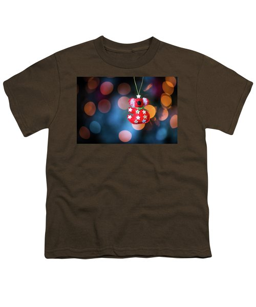 Christmas Tree Decoration With Bokeh Youth T-Shirt