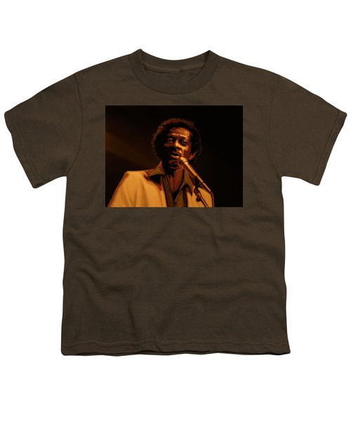 Chuck Berry Gold Youth T-Shirt by Paul Meijering