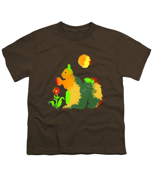 Colorful Squirrel 1 Youth T-Shirt by Holly McGee
