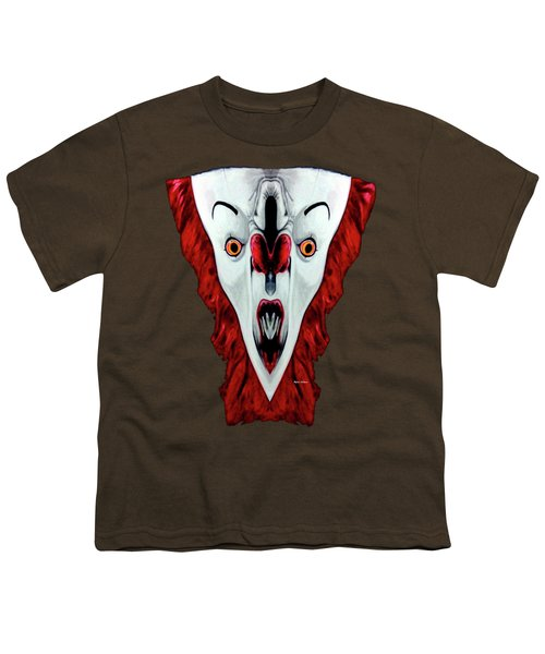 Creepy Clown 01215 Youth T-Shirt