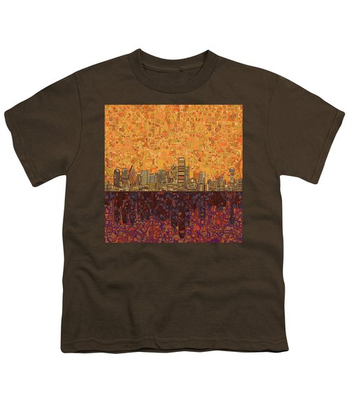 Dallas Skyline Abstract Youth T-Shirt