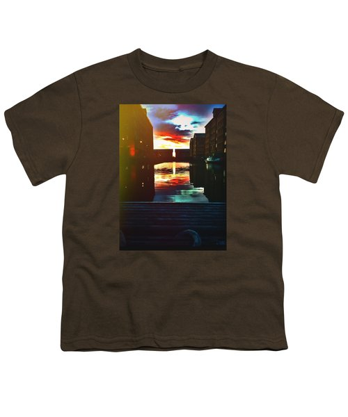 Dockland Sun Down Youth T-Shirt by Trystan Oldfield