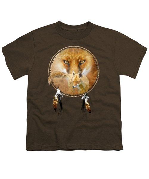 Dream Catcher- Spirit Of The Red Fox Youth T-Shirt