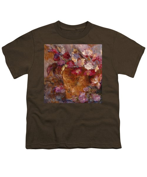 Floral Still Life Pinks Youth T-Shirt
