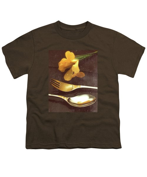 Flowers On Slate Variation 3 Youth T-Shirt by Jon Delorme