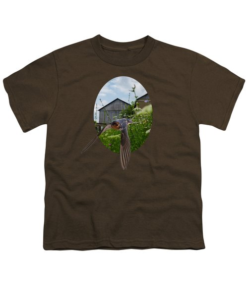 Flying Through The Farm Youth T-Shirt by Jan M Holden