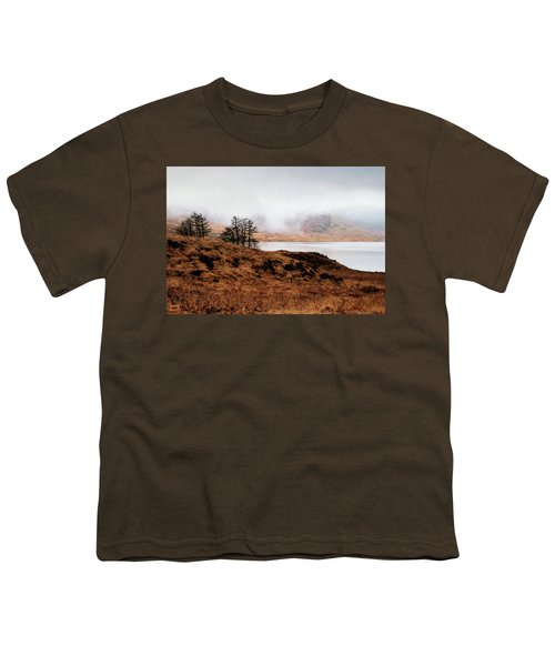 Foggy Day At Loch Arklet Youth T-Shirt by Jeremy Lavender Photography