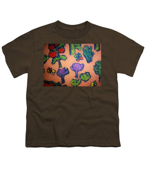 Youth T-Shirt featuring the painting From The Earth by Winsome Gunning