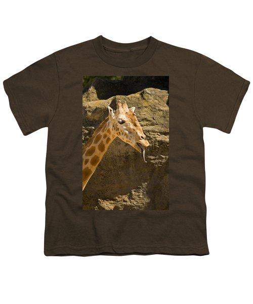 Giraffe Raspberry Youth T-Shirt