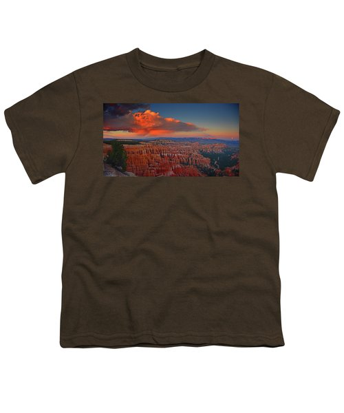 Harvest Moon Over Bryce National Park Youth T-Shirt
