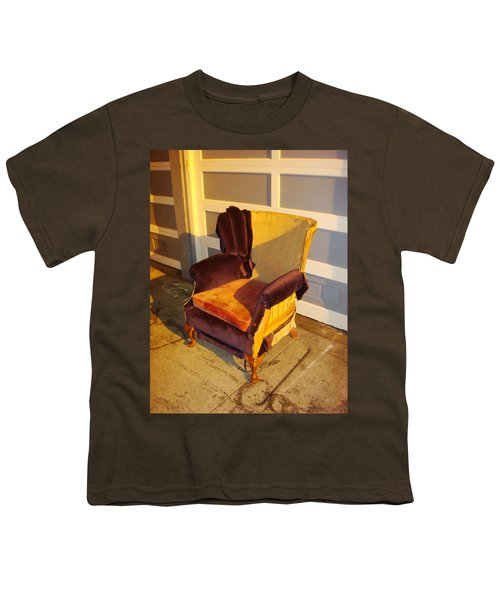 Youth T-Shirt featuring the photograph Have A Seat In Dore Alley by Mr Photojimsf