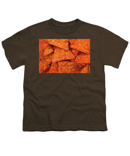 Hot Corn Chips Background Youth T-Shirt