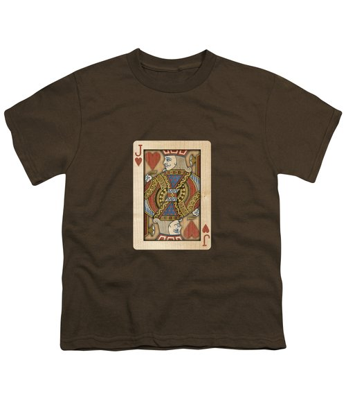 Jack Of Hearts In Wood Youth T-Shirt