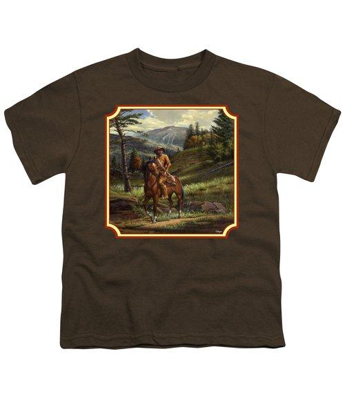 Jim Bridger - Mountain Man - Square Format Youth T-Shirt