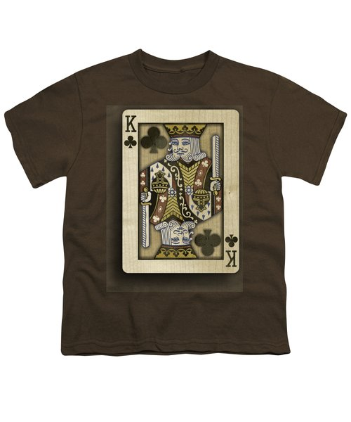 King Of Clubs In Wood Youth T-Shirt