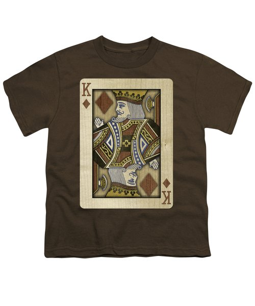 King Of Diamonds In Wood Youth T-Shirt