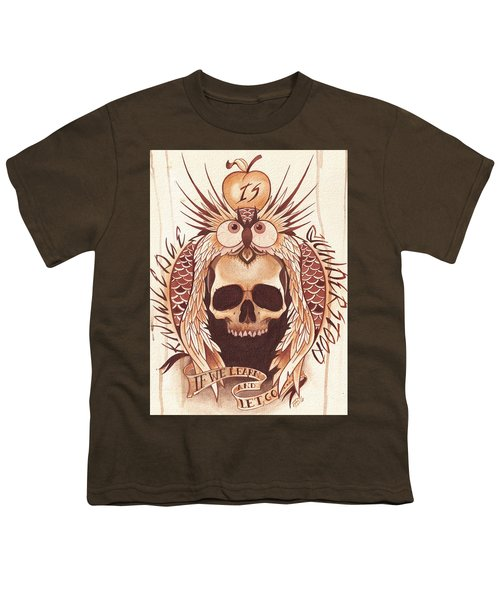 Knowledge Youth T-Shirt by Deadcharming Art