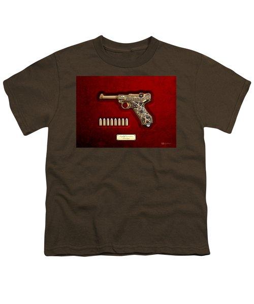 Krieghoff Presentation P.08 Luger  Youth T-Shirt by Serge Averbukh