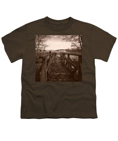 #landscape #bridge #family #tree Youth T-Shirt