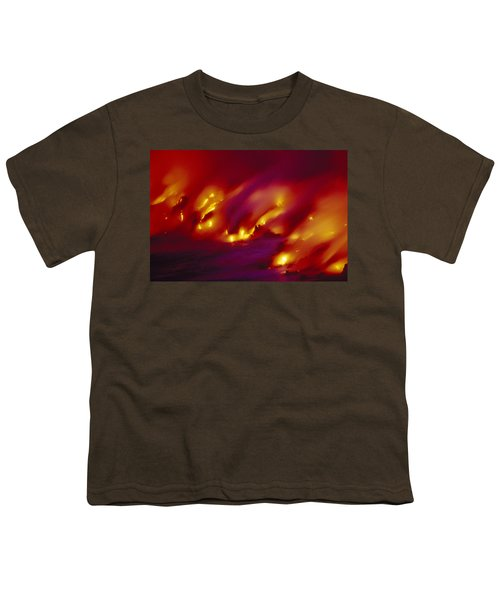 Lava Up Close Youth T-Shirt by Ron Dahlquist - Printscapes