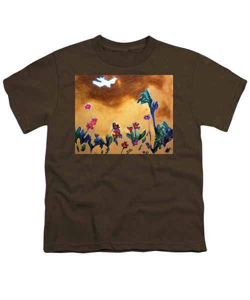 Youth T-Shirt featuring the painting Living Earth by Winsome Gunning