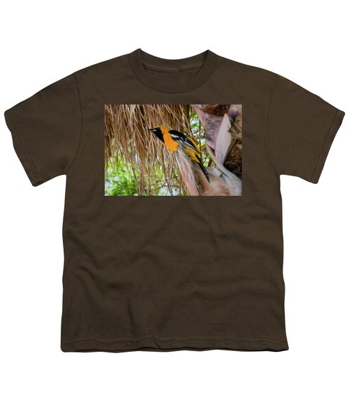 Male Hooded Oriole H17 Youth T-Shirt by Mark Myhaver