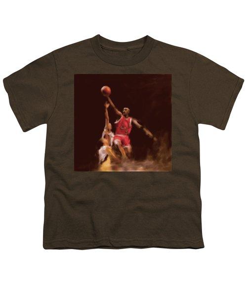 Michael Jordan 548 2 Youth T-Shirt by Mawra Tahreem