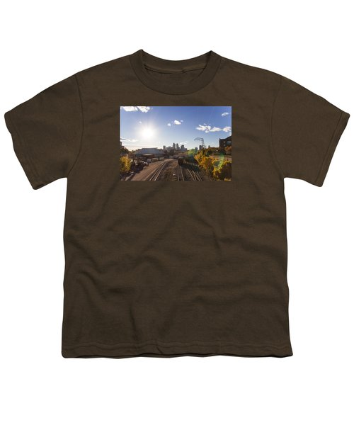 Minneapolis In The Fall Youth T-Shirt by Zach Sumners