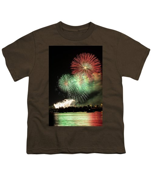 Montreal-fireworks Youth T-Shirt by Mircea Costina Photography