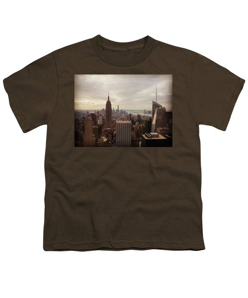 New York City Skyline Youth T-Shirt by Lush Life Travel