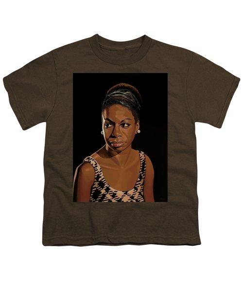 Nina Simone Painting 2 Youth T-Shirt