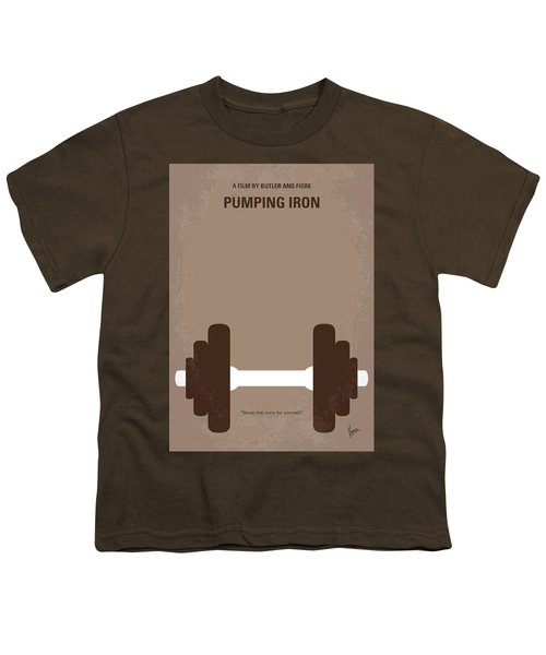 No707 My Pumping Iron Minimal Movie Poster Youth T-Shirt by Chungkong Art