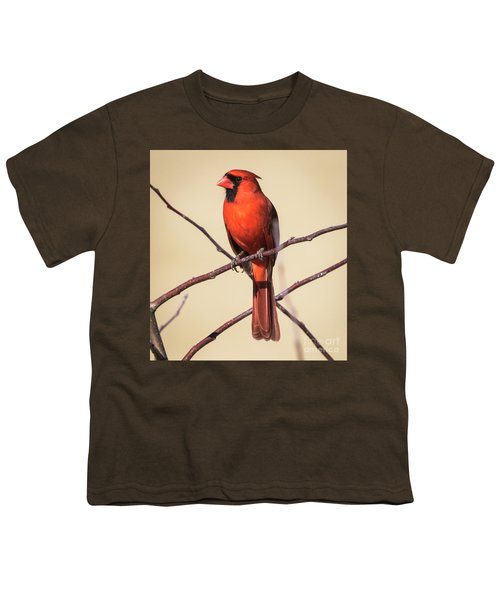 Northern Cardinal Profile Youth T-Shirt by Ricky L Jones
