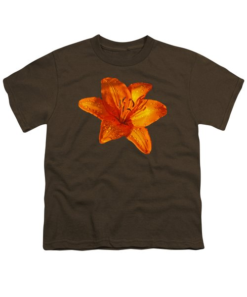 Orange Lily In Sunshine After The Rain Youth T-Shirt