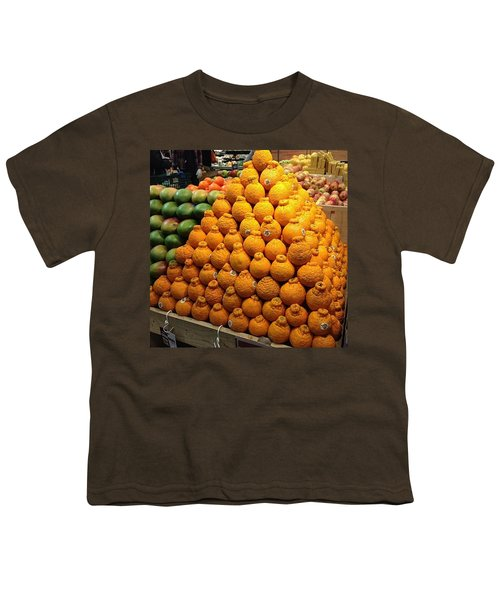 Orange You A Fan Of Terrible Puns? Youth T-Shirt by Kate Arsenault