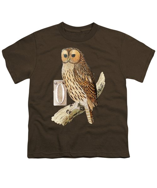 Owl T Shirt Design Youth T-Shirt by Bellesouth Studio